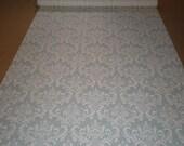 Reserved for Crystal-  75' Robin White Damask Print Aisle Runner