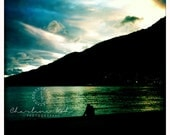 Limited Edition 7 x 7 Fine Art Print of a Traveller Watching Sunset