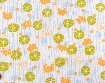 Japanese Fabric : Floating Lotus - 1/4 Yard