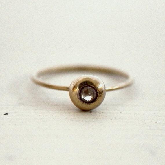 Reserved.  Diamond Engagement Ring. Rose cut. Enya.