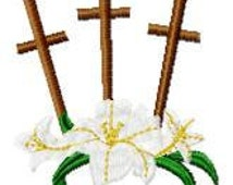 3 Crosses Embroidery Design - Instant Download