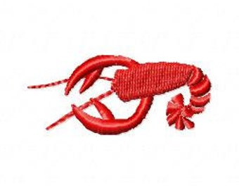 Lobster Embroidery Design - Instant Download