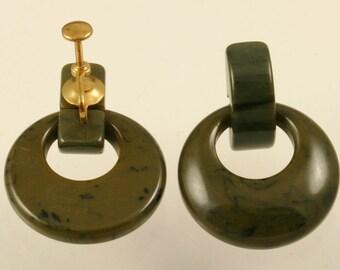 Vintage Bakelite Door Knocker Earrings