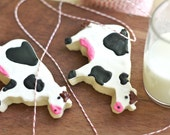 Dairy Cow Decorated Sugar Cookies