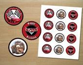 Disney Cars Cupcake Toppers - Custom Printable