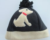 SALE - Close Out - Black hat with Dog applique
