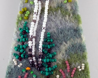 SPRING BIRCH bead and felt pin kit