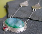 Green Forest Druzy necklace