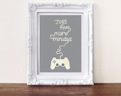 Typographic Print Illustration print Gaming