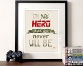 Gaming quote hand drawn Metal Gear Solid print, video games print