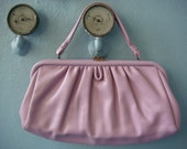 Vtg 60s Markay Lilac Purple Large Clutch / Purse / Summer Handbag