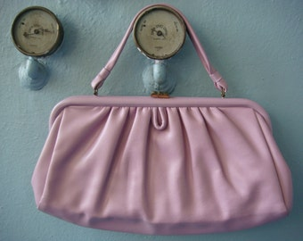 Vtg 60s Markay Lilac Purple Large Clutch / Purse / Summer Handbag