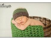 Green Stripe Beanie