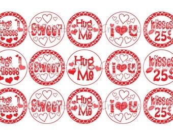 Hug Me Valentine Bottle Cap Images 4x6 Printable Bottlecap Collage INSTANT DOWNLOAD
