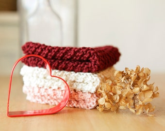 For your Valentine- A Dishcloth Trio