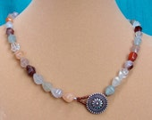 Mulit-Colored Rutilated Quartz Necklace, One of a Kind
