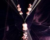 Custom Order: multi-string pink necklace