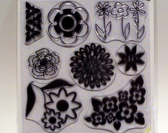 Flowers from my Garden to Yours Autumn leaves collection Clear Stamp Set of 10 with bonus ide