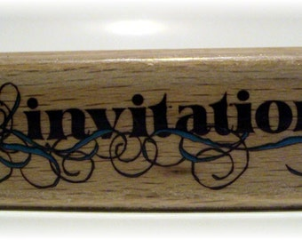 Invitation Wooden Mounted Rubber Stamping Block DIY cards making for Baby Showers, Birthday Party, and Wedding Showers
