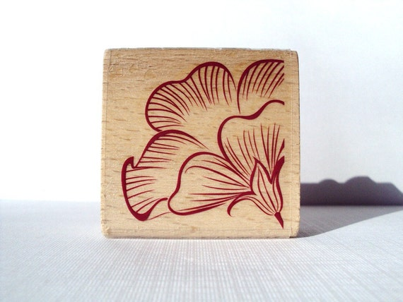 Patunia Flower Wooden Mounted Rubber Stamping Block DIY cards, scrapbooking, tags, Greeting Cards, and Scrapbooking