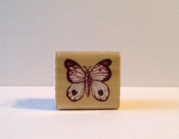 Little Butterfly Mounted Rubber Stamping Block DIY cards, scrapbooking, tags, Greeting Cards, and Scrapbooking by Rubber Stampede