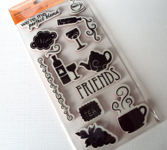 Perfect Blend by Fiskars rubber mounted cling stamp set