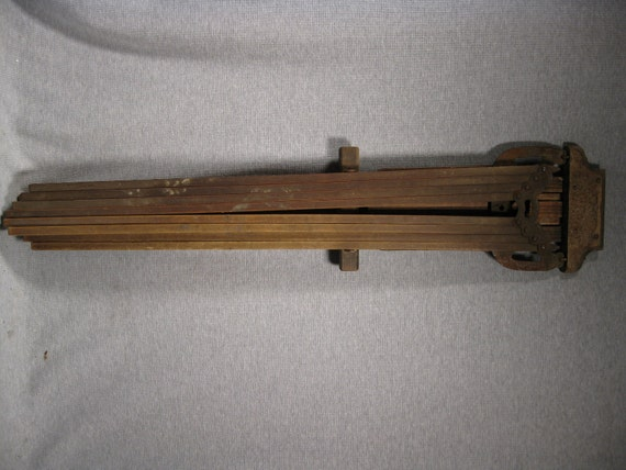 Antique Wood Wall Mounted Clothes Dryer Rack