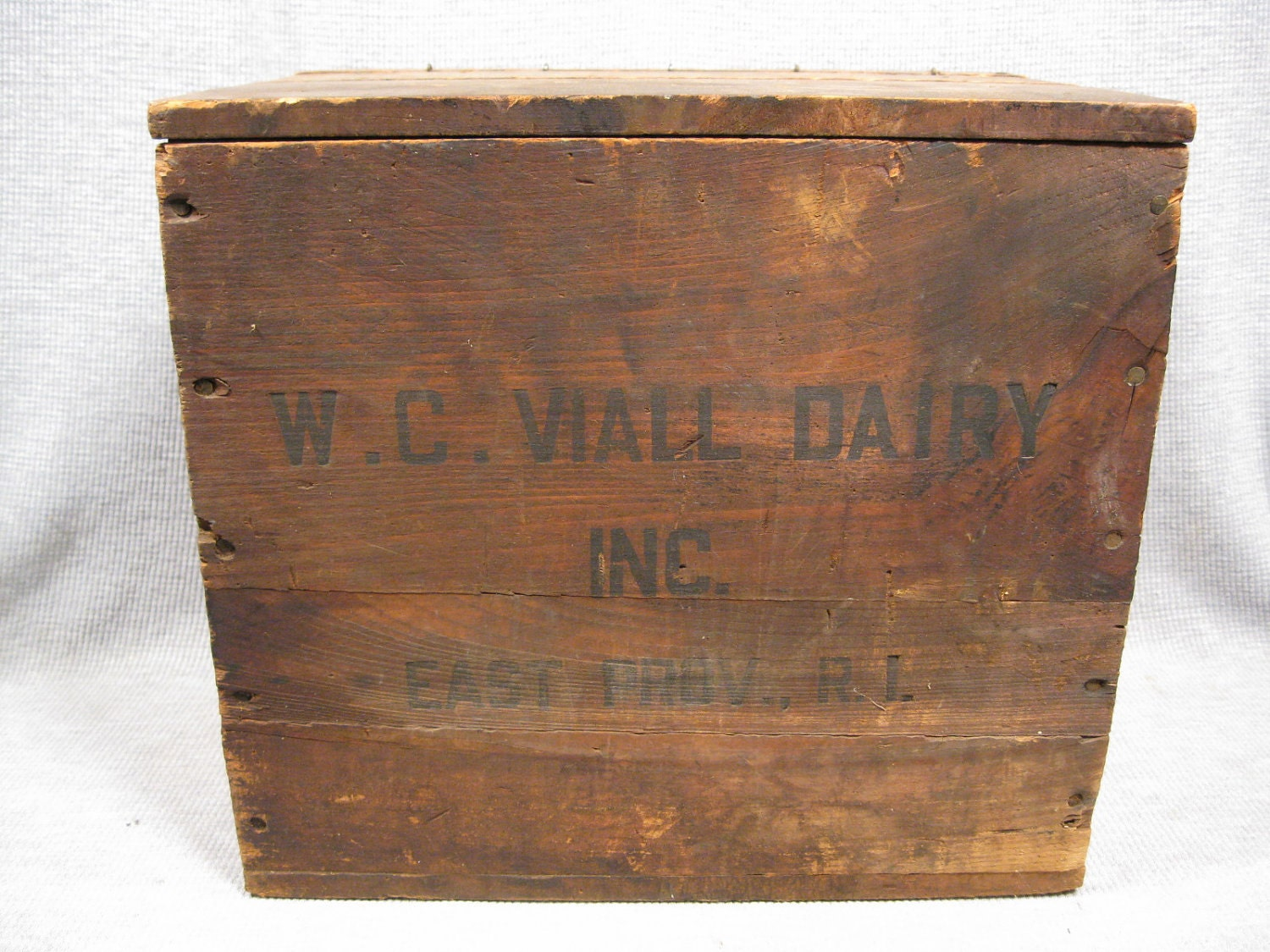 Vintage Wood Milk Delivery Box Viall Dairy By Ccwashashore
