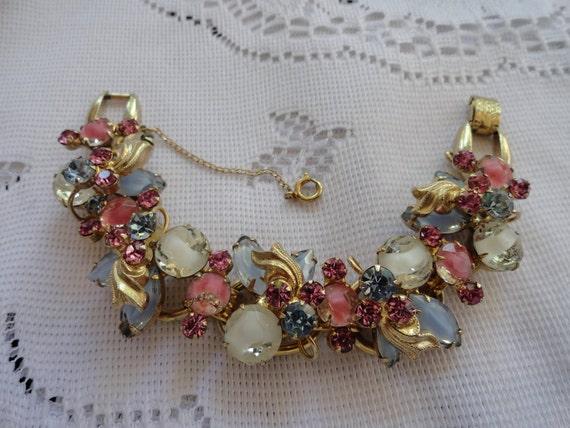 Mesmerizing, Vintage, Confirmed D & E Juliana, Five Link Bracelet.