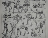 1908 - Poster - WRESTLING - French Dictionary Illustration