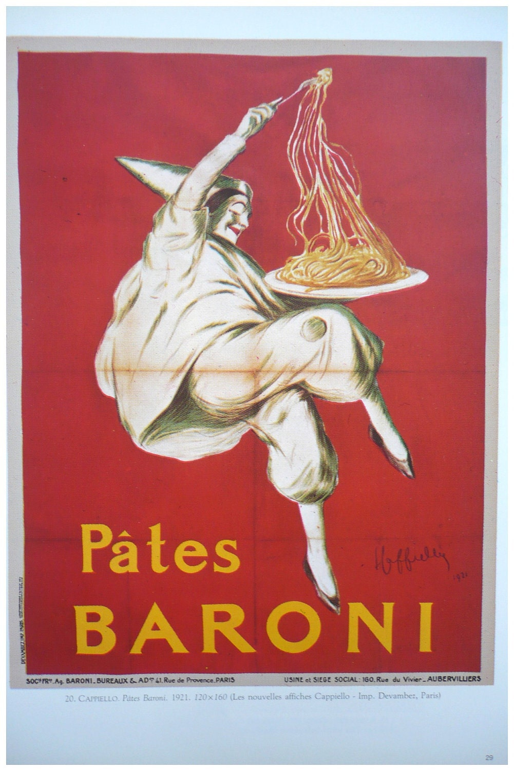 FOOD Vintage French color advertisement poster by FolieduJour