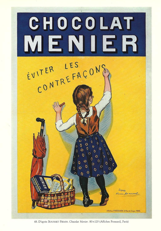 Chocolat Menier Vintage French FOOD advertisement poster