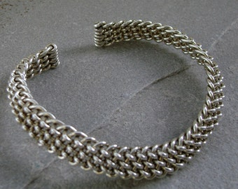 Battle Bracelet in Sterling Silver
