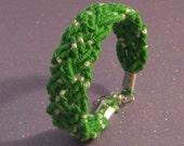 Apple Green Braided Friendship Bracelet bangle