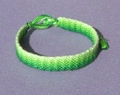 Green ZigZag Ombre Friendship Bracelet