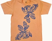 Free Shipping Elephants Screen Print T-shirt on American Apparel