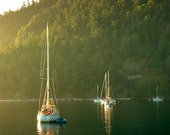 """Nautical / Boat Photograph - 11x14 on a 1.5in """"standout"""" floating frame (landscape, boating, BC Canada)"""