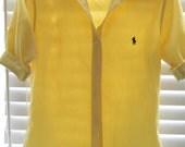 HOLD Vintage Ralph Lauren Yellow Gingham Button Down