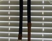 Vintage Unisex Navy and Brown Belt M L
