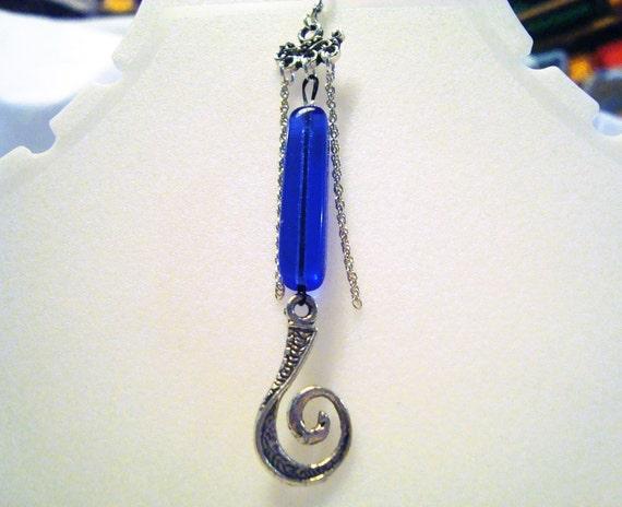 Single Earring Blue Single Charm Earring. E010