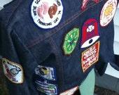 70s girl scout jean jacket