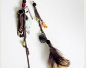 Wood and Moss - One of a Kind Feather Earrings