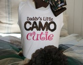 Camo Tutu Set - Daddy's Little Camo Cutie Available Infant & Young Girls