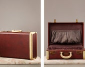 Vintage 1940s Crown Luggage suitcase