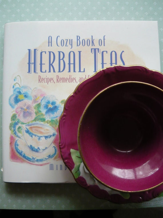 Japanese Tea Cup And Saucer And Snuggle Up With This Herbal Tea Book....FREE SHIPPING USA