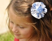 UNC TarHeels fabric flower clip great for all ages