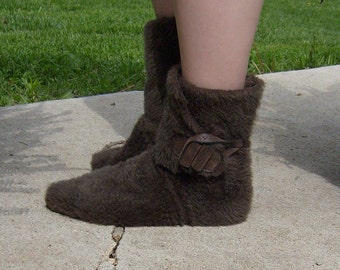 Fur Ankle Moccasin Boots---Unisex---Made To Order