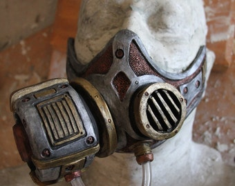 Steampunk, Diesel Punk Froggle gas mask  cosplay fetish Larp  latex On Sale Now 25% off!!