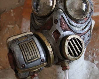 Steampunk Diesel Punk Froggle Goggle and gas mask combo set cosplay fetish Larp On Sale Now 25% off!!