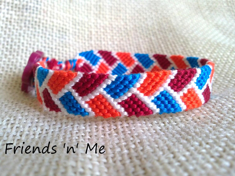 Stitch Friendship Bracelet Friendship Bracelet Orange